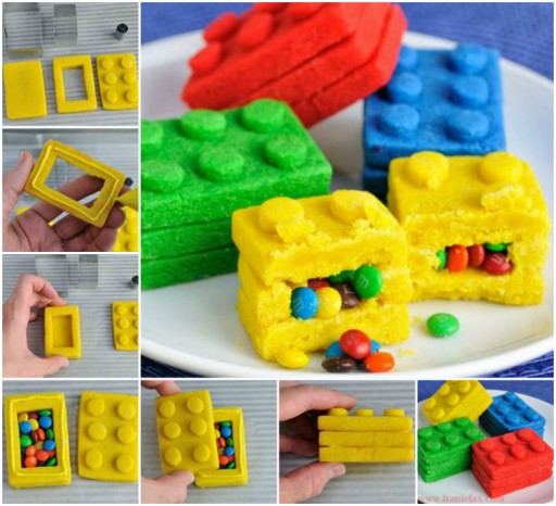 DIY Lego Bricks Pinata Cookies