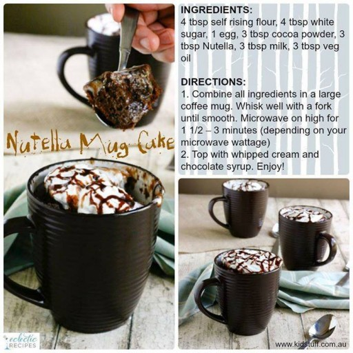 DIY Nutella Mug Cake Recipe