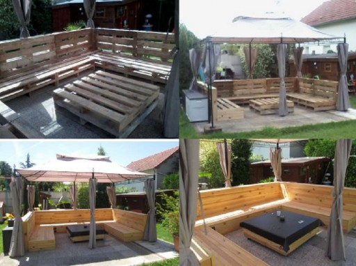 DIY Pallet Garden Patio Furniture Set