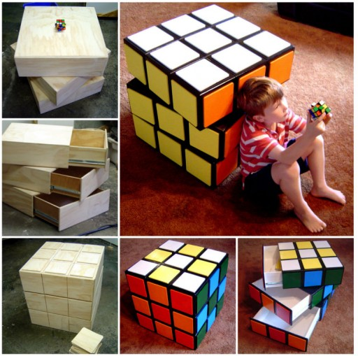 DIY Rubik's Cube Chest Drawers Tutorial