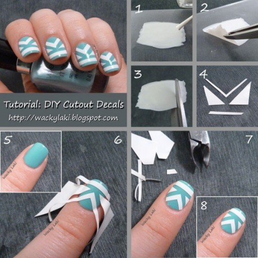 DIY cut out decal nail tutorial
