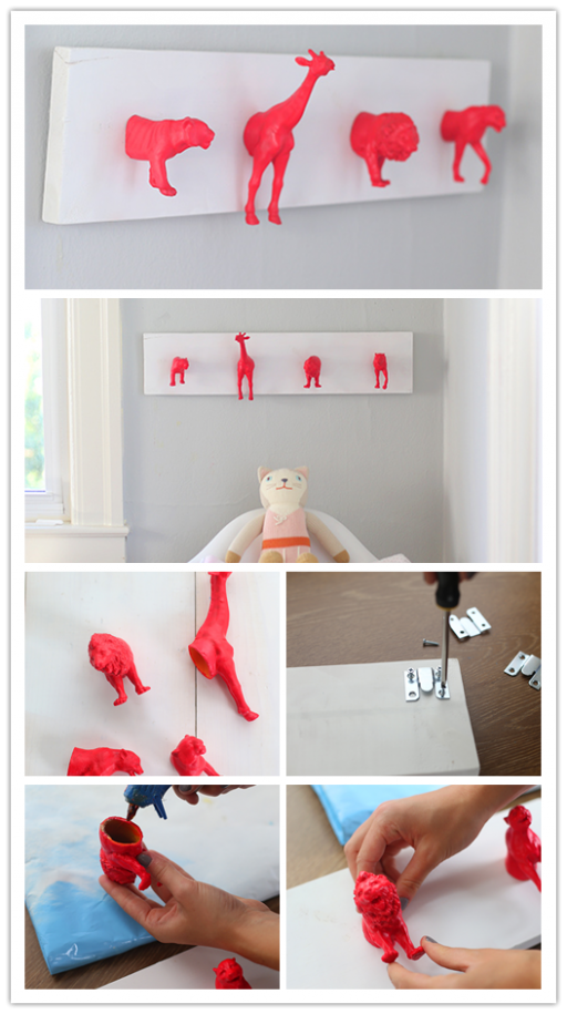 DIY neon nursery wall hooks 2
