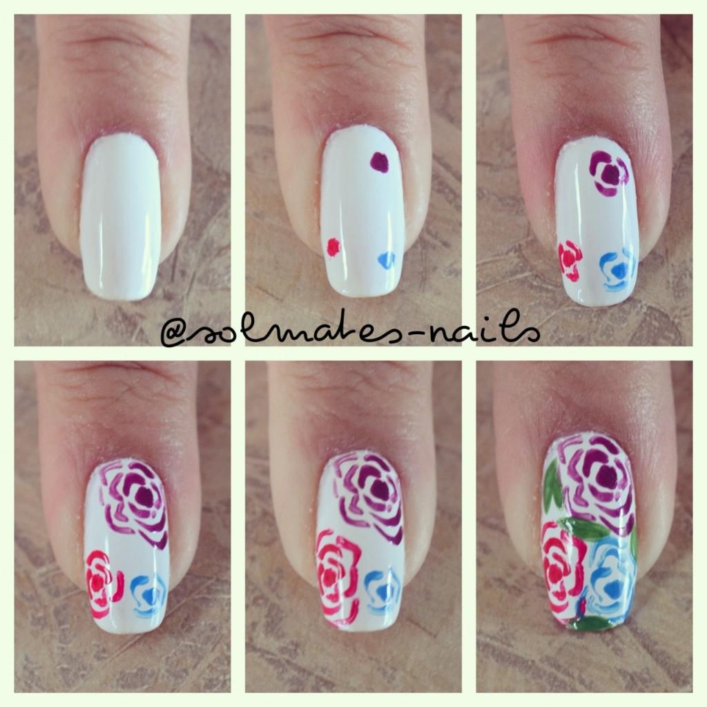Цветы для ногтей в домашних условиях
