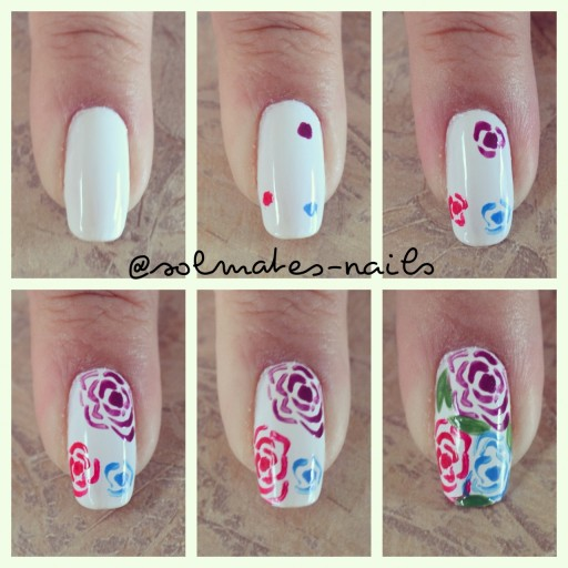 Easy Rose Nail Art Tutorial Diy Tag