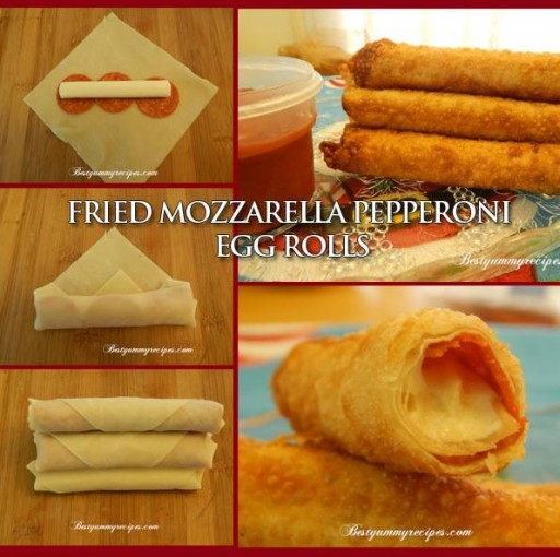 Fried Mozzarella Pepperoni Egg Roll Recipe