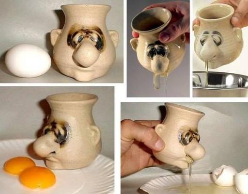 Funky Mr. Sniffles Egg Separator