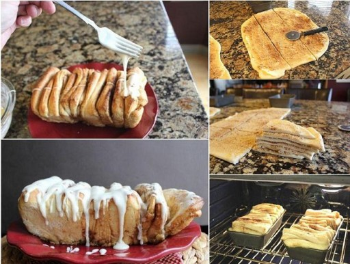 Homemade cinnamon pull-a-part bread recipe