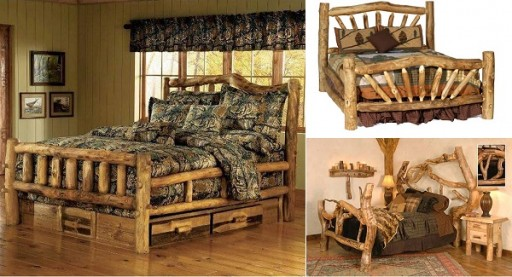 How To Build A DIY Rustic Log Bed