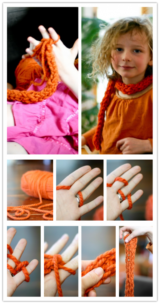 How To Do Finger Knitting DIY Tutorial