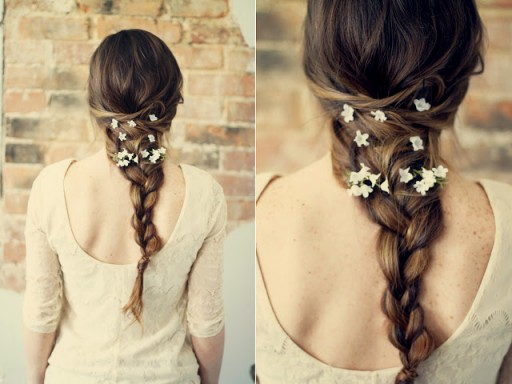 How To Do Flower Hair Braid Hairstyle Tutorial 2