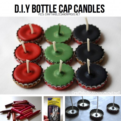 How To Make DIY Bottle Cap Candles
