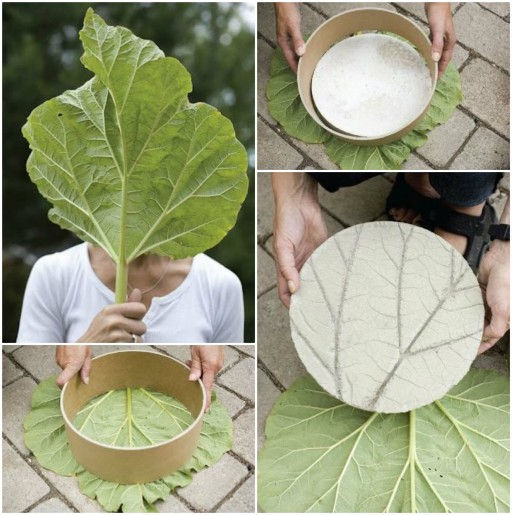 How To Make DIY Leaf Imprinted Garden Stepping Stones