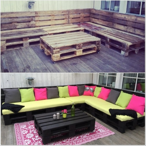 How To Make DIY Outdoor Pallet Lounge 2