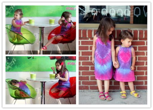 How To Make DIY Tie Dye Heart Dress From Mens Undershirt