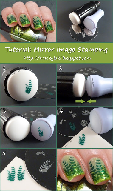 How To Make Mirror Image Stamping Nail Art