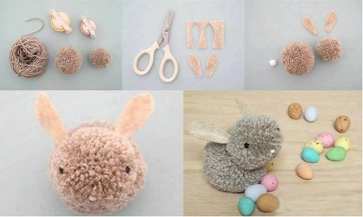 How To Make Simple & Cute DIY Pom Pom Bunny Crafts