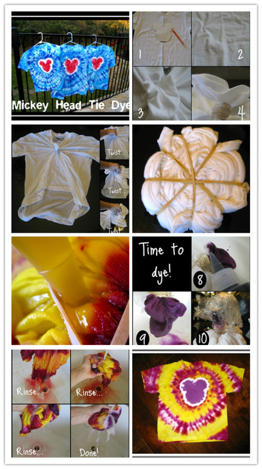 How To Tie Dye - Mickey Head Tie Dye DIY Tutorial 2
