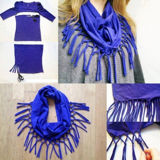 How To Turn A T-shirt To Scarf
