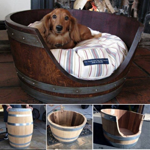 How To Turn A Wine Barrel Into A Dog Bed
