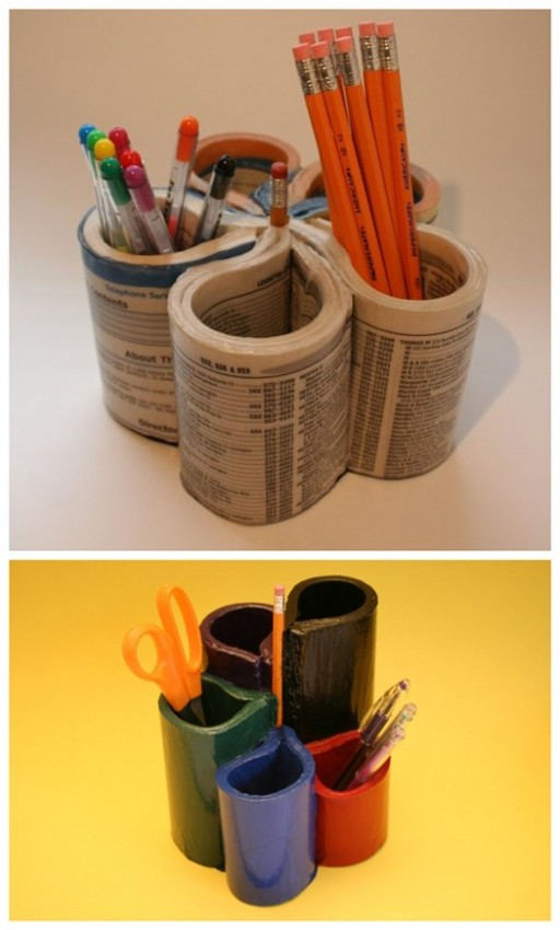 How To Turn Old Phone Books Into Desk Organizers 2