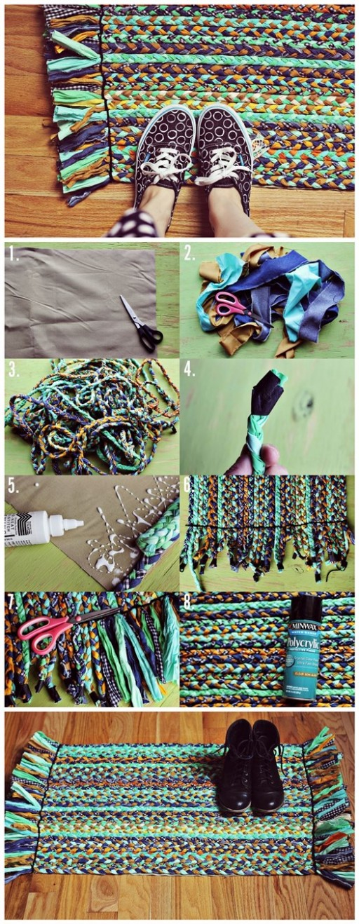 How To Upcycle Old Clothes Into DIY Braided Rugs 2