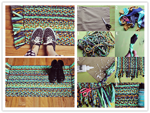 How to upcycle old clothes into diy braided rugs diy tag for Diy upcycle