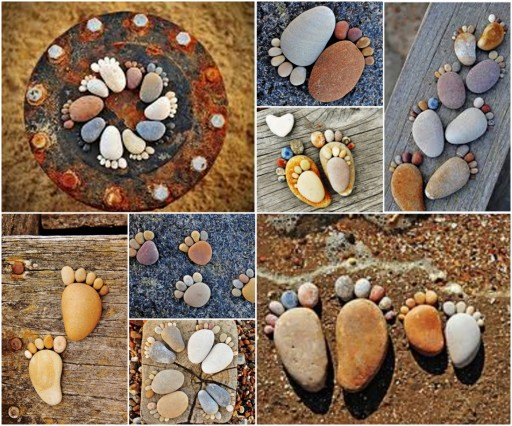 Inspirational Rock Footprints