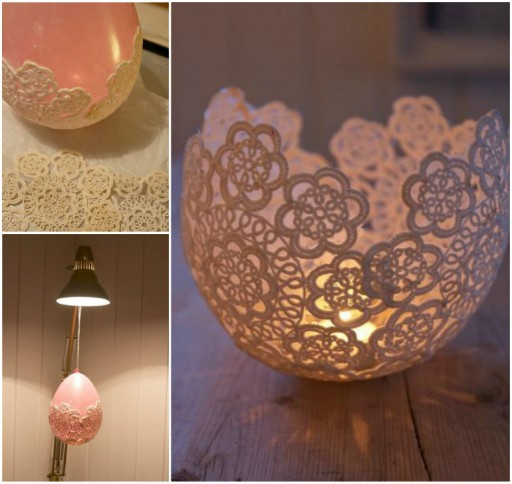 Lovely Doily Lace Candle Holder Tutorial