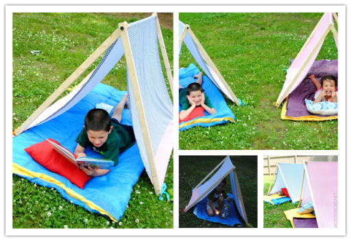 Make DIY Camping Tents For Kids To Have A Lot Of Fun