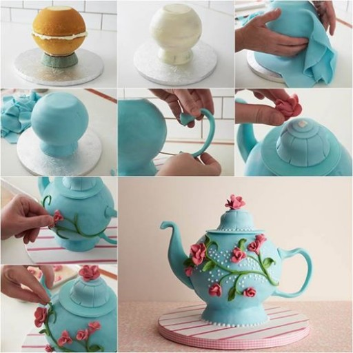 Super Cute Teapot Cake Decoration DIY Tutorial 2