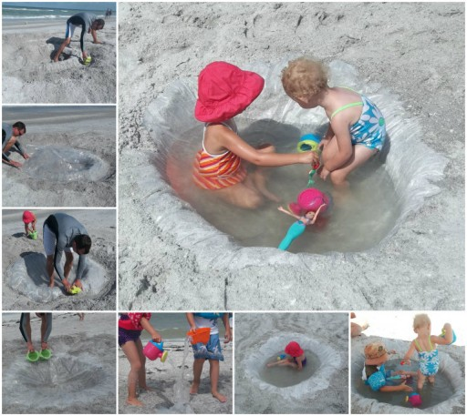 Thrifty & Fun DIY Kid-Friendly Beach Pool