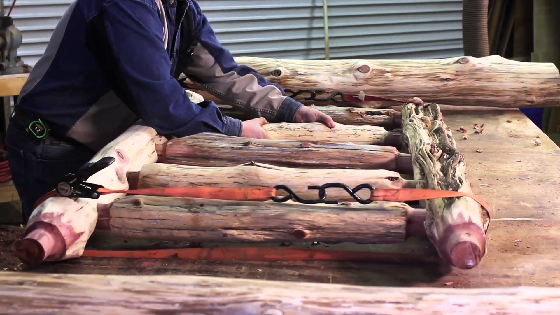 How To Build A Diy Rustic Log Bed Diy Tag