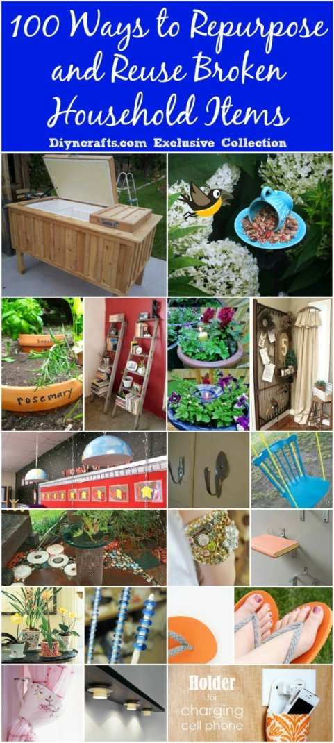 100 Creative Ways To Repurpose And Reuse Broken Household Items 2