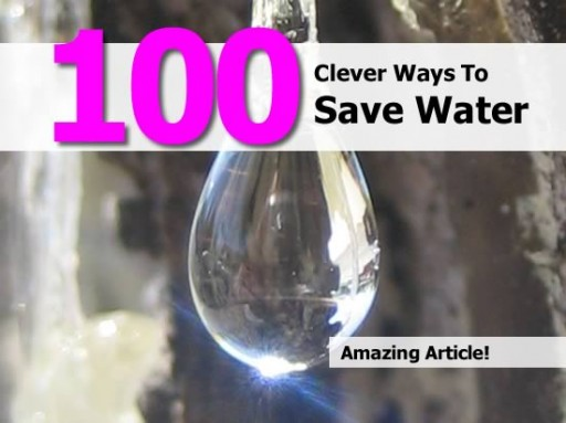 100 Smart Ways To Save Water