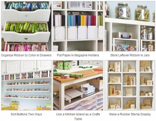 12 Amazing Craft Room Organization Ideas & Tips 2