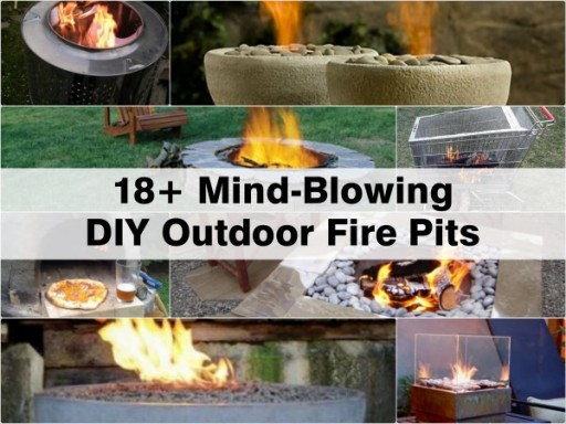 18+ Mind-Blowing Outdoor DIY Fire Pits