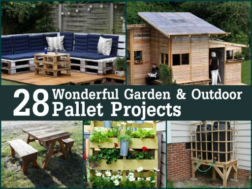 28 Wonderful Garden Outdoor Pallet Projects