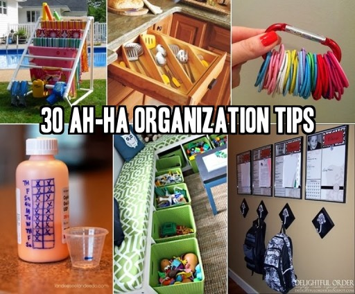 30 Ah-Ha Organization Tips