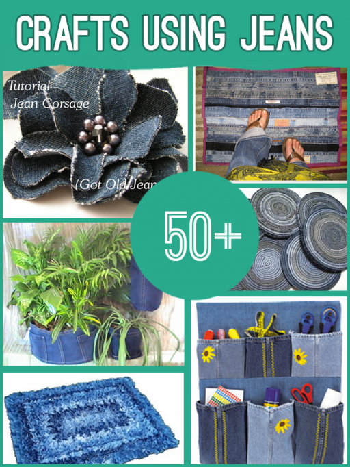 50+ Wonderful Crafts To Make From Old Jeans