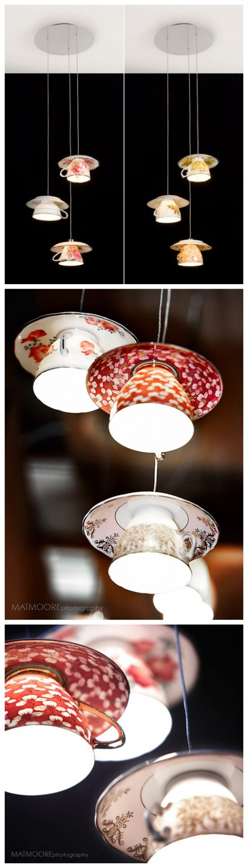 Beautiful Vintage DIY Teacup Lamp 2