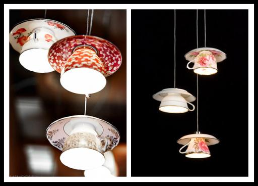 Beautiful Vintage DIY Teacup Lamp