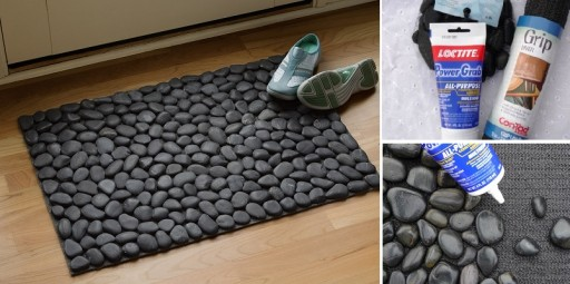 Cool DIY River Rock Doormat Tutorial