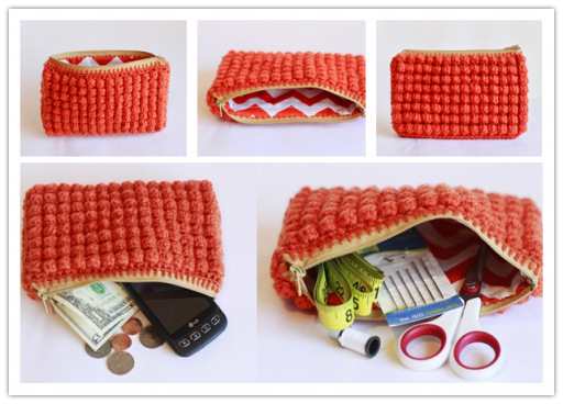 Crochet Zipper Clutch DIY Tutorial