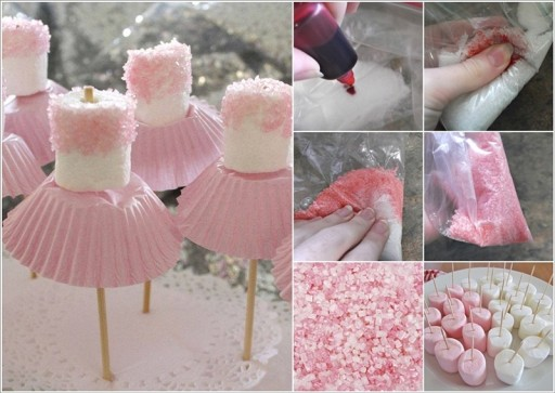 Cute Simple Marshmallow Ballerina Treats