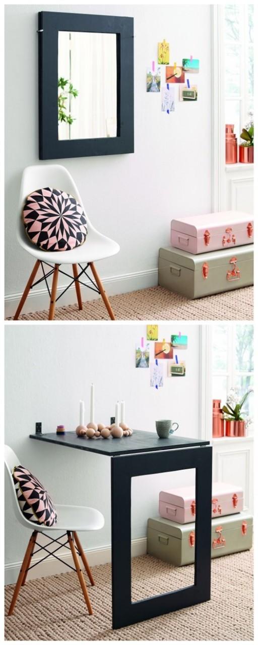 DIY 2-in-1 Folding Table Mirror Tutorial 2