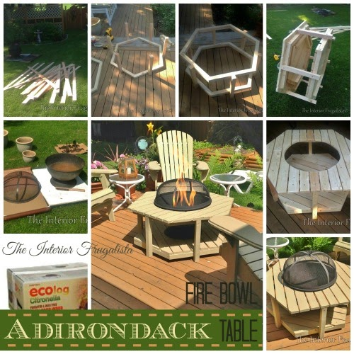 DIY Adirondack Fire Bowl Table Tutorial