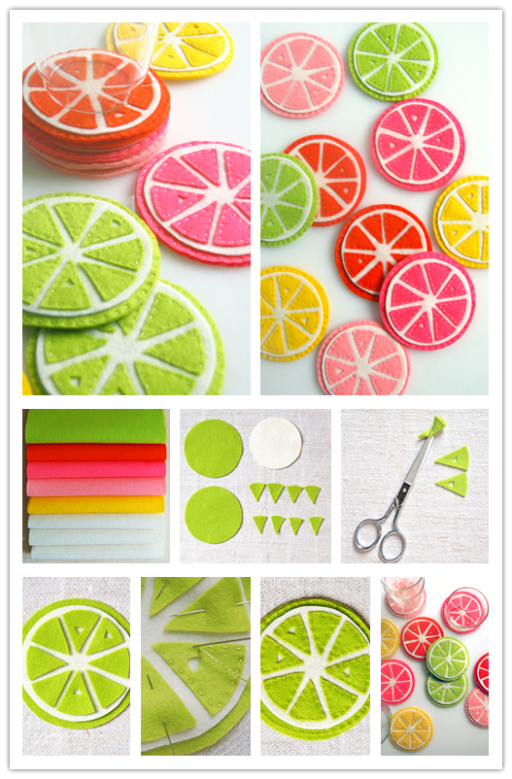 DIY Citrus Coasters Tutorial 2