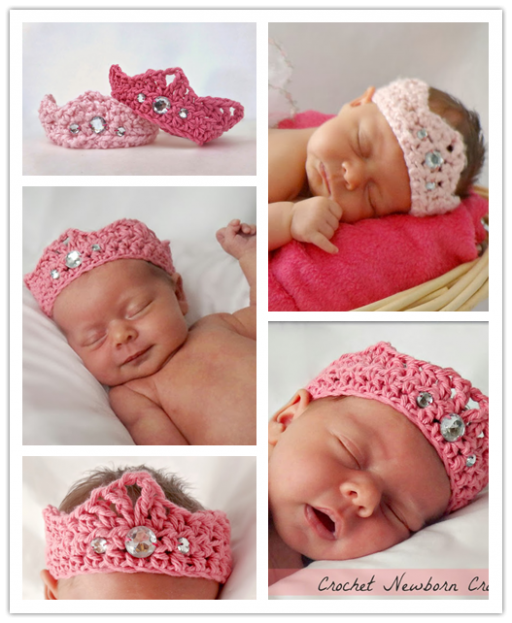DIY Crochet Newborn Crown Free Pattern 2