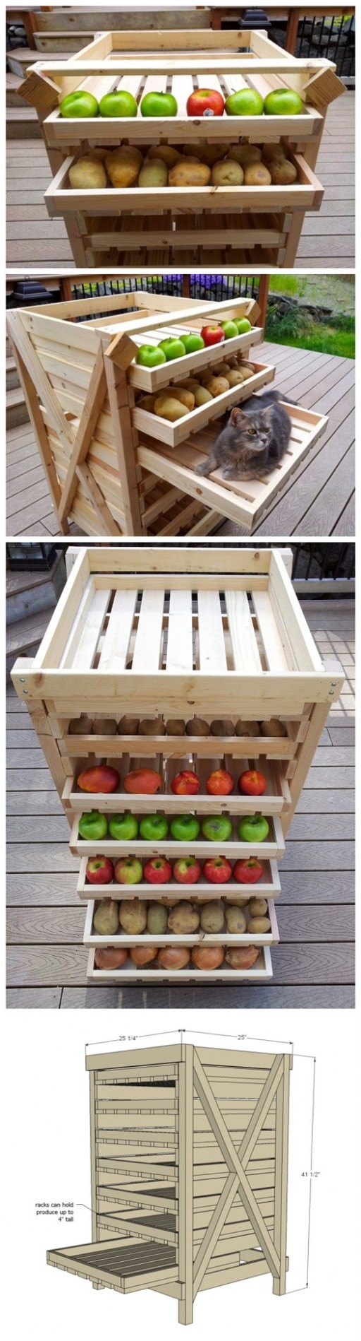 DIY Food Drying Storage Shelf 2