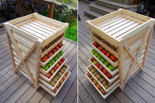DIY Food Drying Storage Shelf